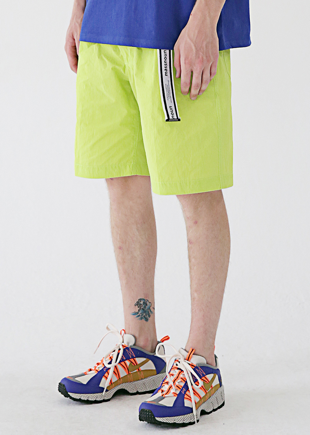 TWO TUCK WIDE SHORT PANTS MSESP002-LG