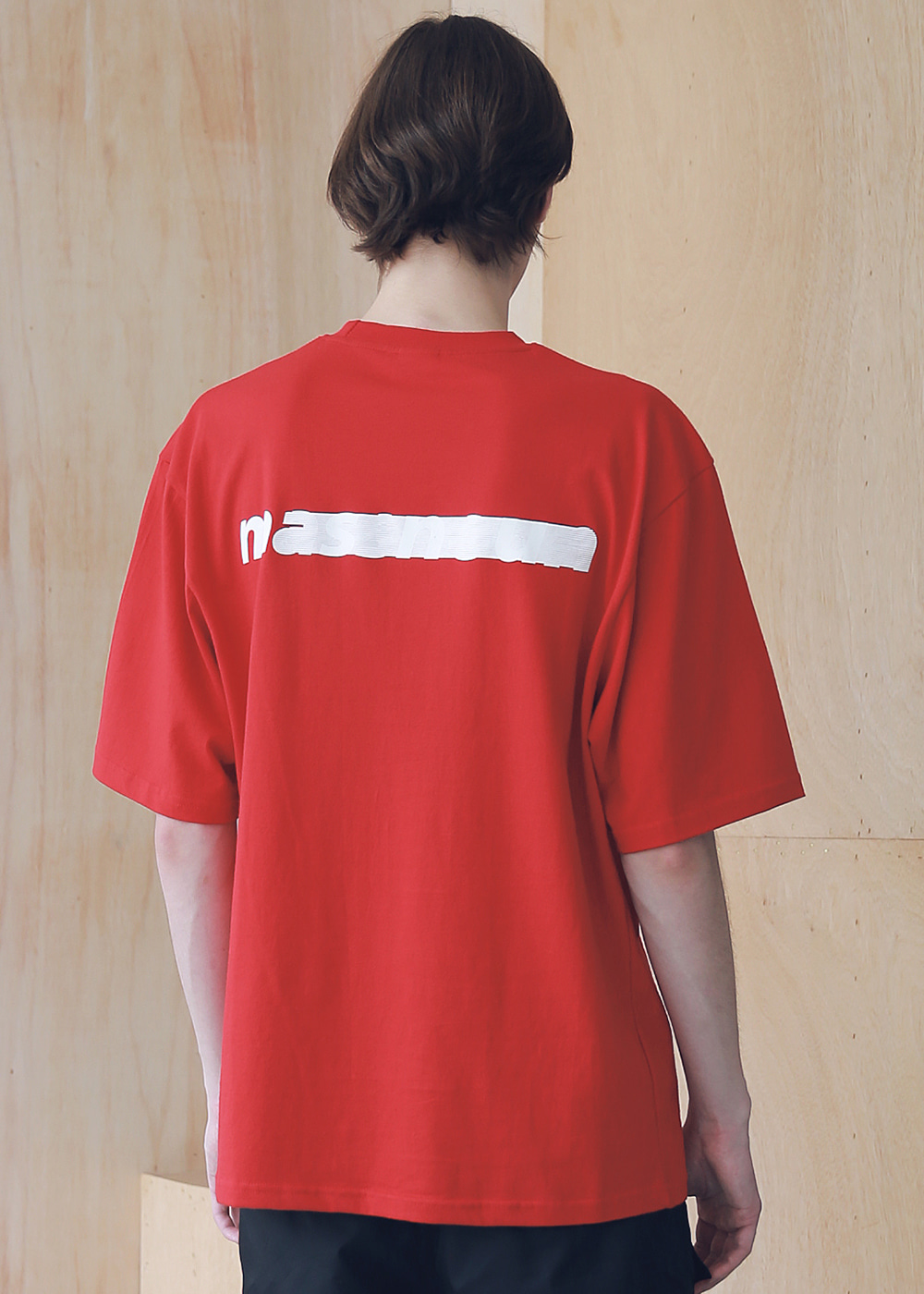 SL LOGO SEVERAL LINE OVERSIZED T-SHIRTS MSNTS006-RD