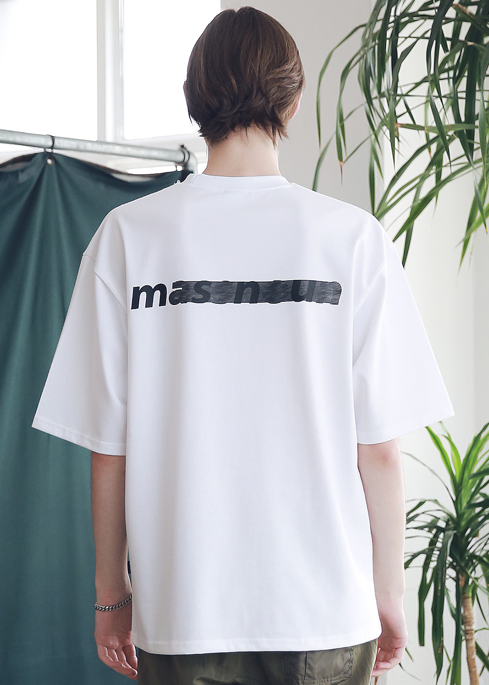 SL LOGO SEVERAL LINE OVERSIZED T-SHIRTS MSNTS006-WT