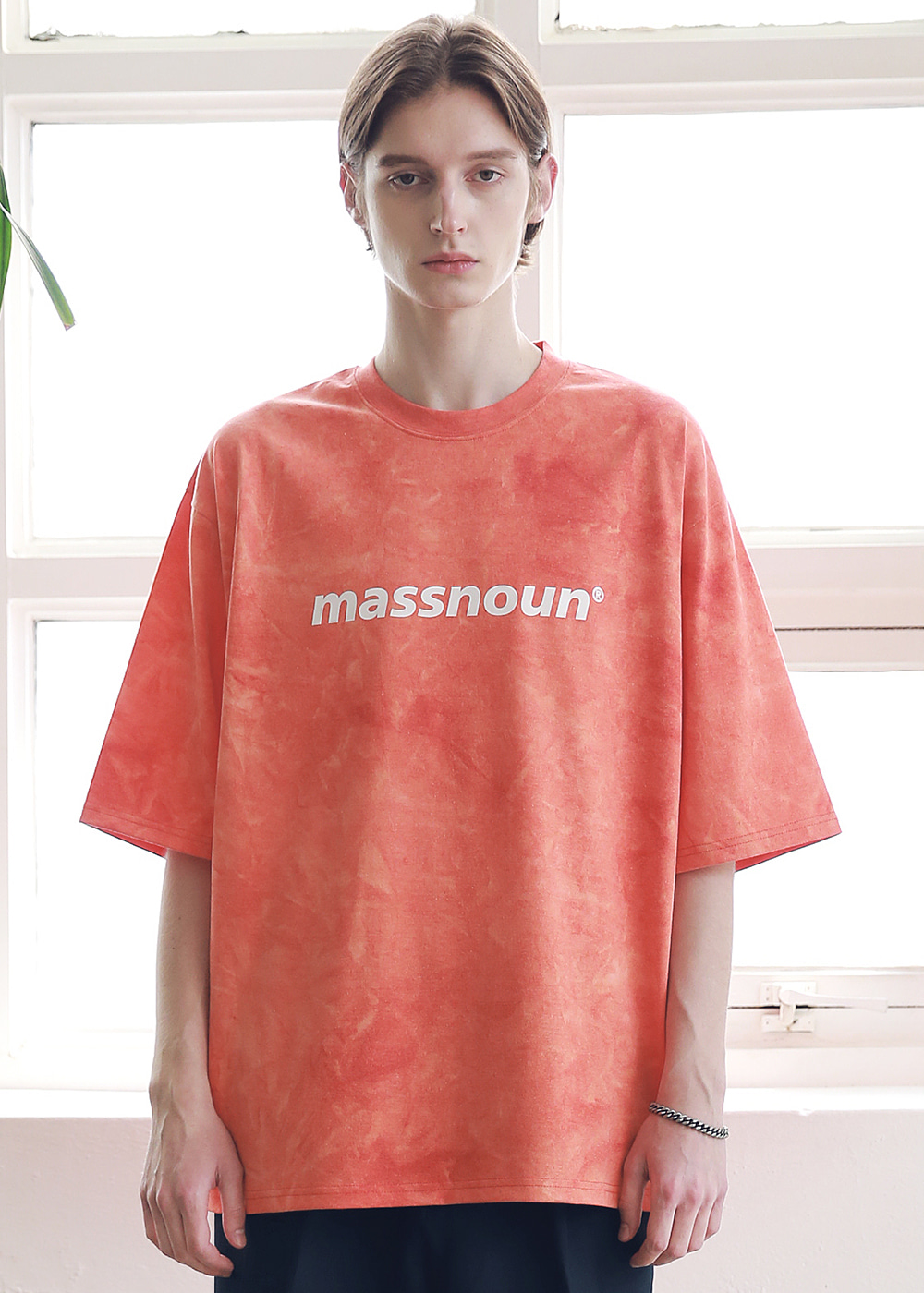 SL LOGO TIE-DYE OVERSIZED T-SHIRTS MSNTS009-CR