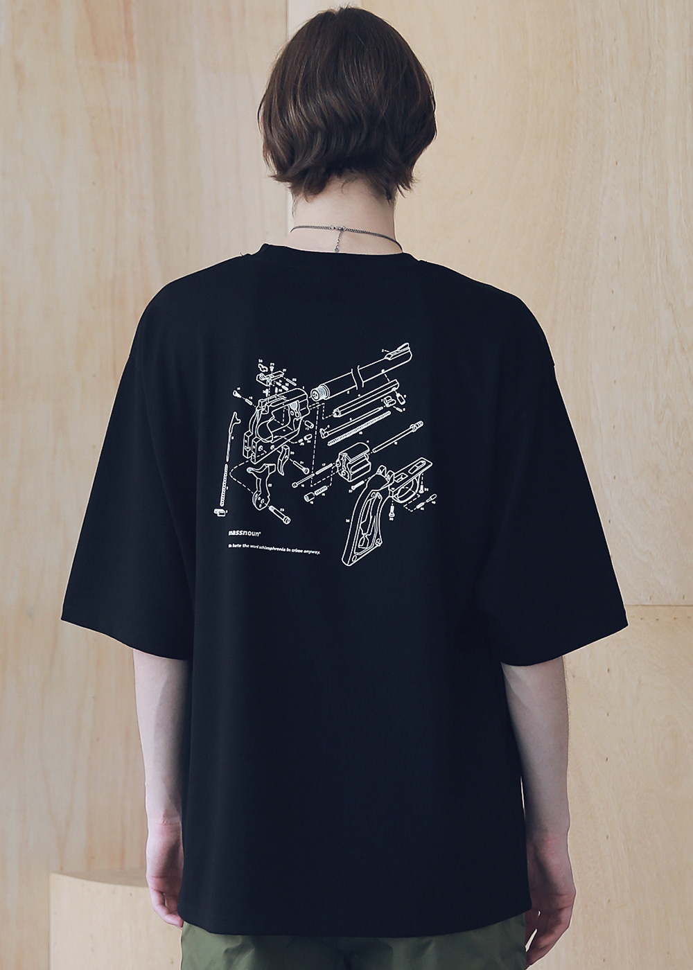MSNU DISASSEMBLE OVERSIZED T-SHIRTS MSNTS005-BK