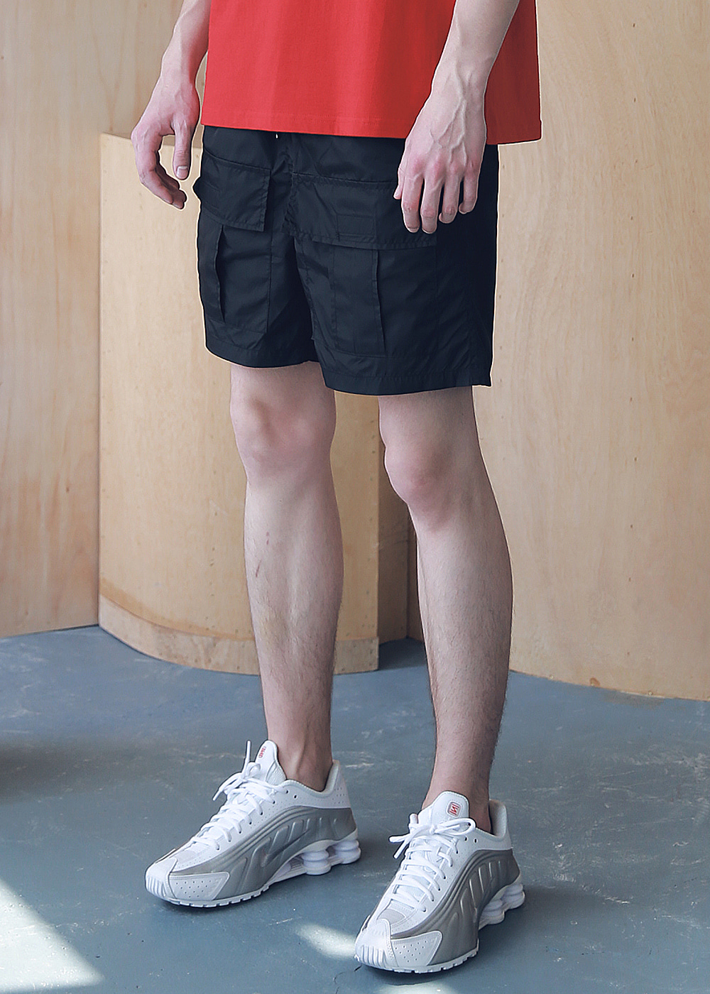 FRONT TWO POCKET SHORT PANTS MSNSP005-BK