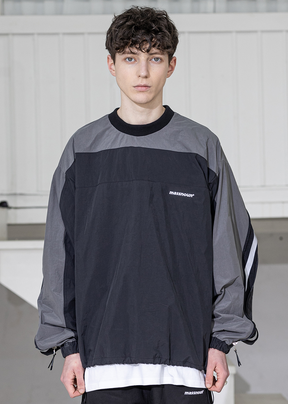 SECTION 3M LINE ZIP CREWNECK MSZCR003-BK