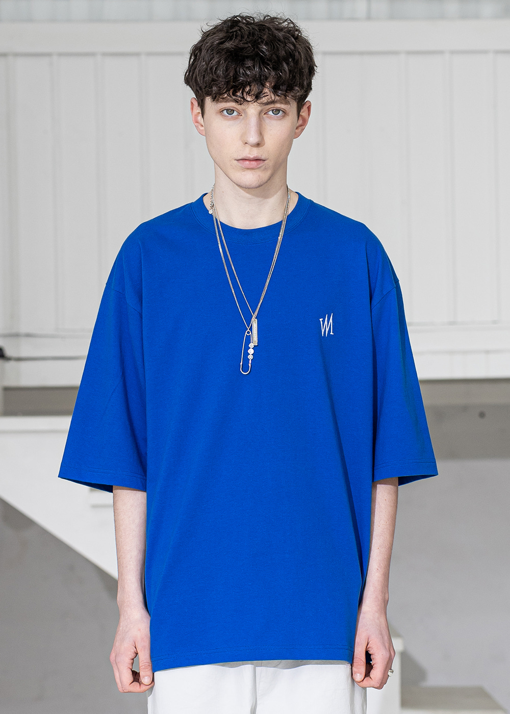 SIGNATURE OVERSIZED T-SHIRTS MSZTS004-BL