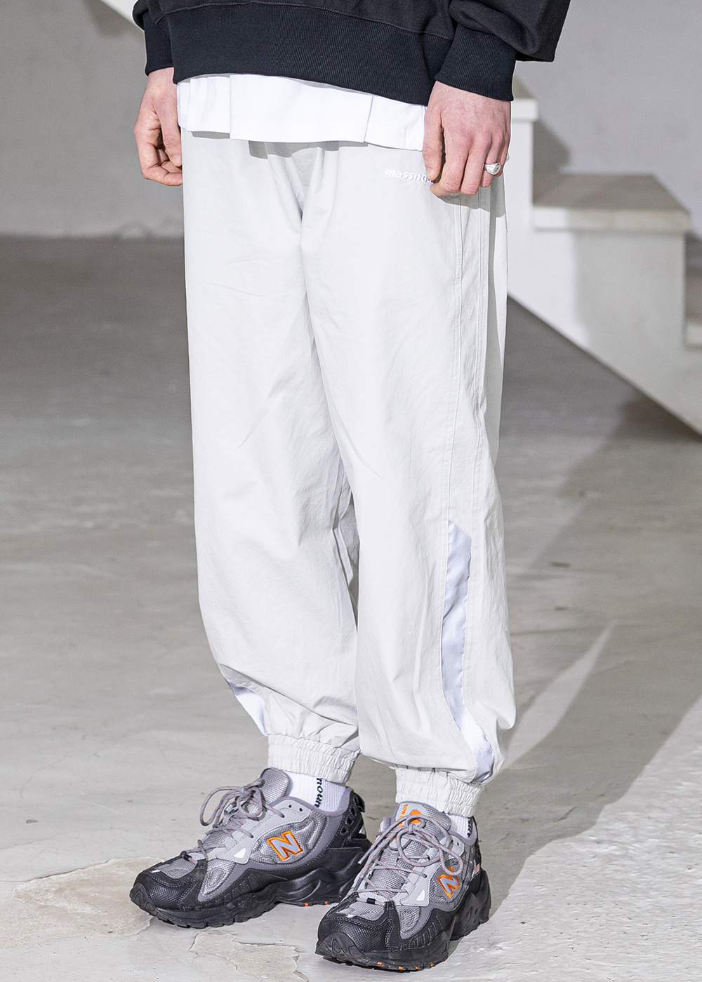 SL LOGO SECTION 3M LINE JOGGER PANT MSZCP001-GY