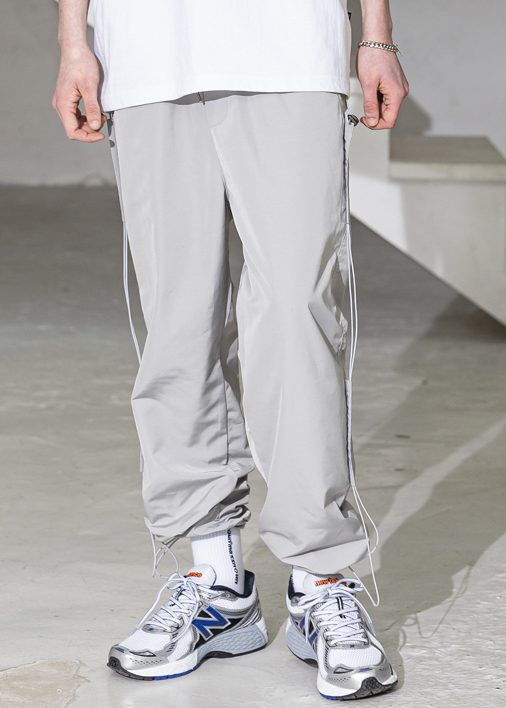 SIDE TAP STRING TRACK PANTS MSZTP004-GY
