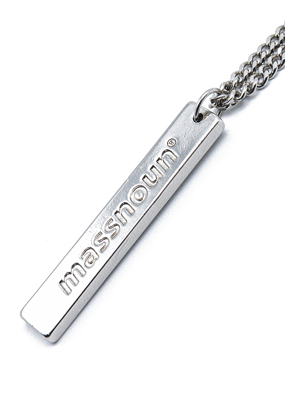 SL/CI LOGO BOLD BAR NECKLACE MSZAJ001-SV