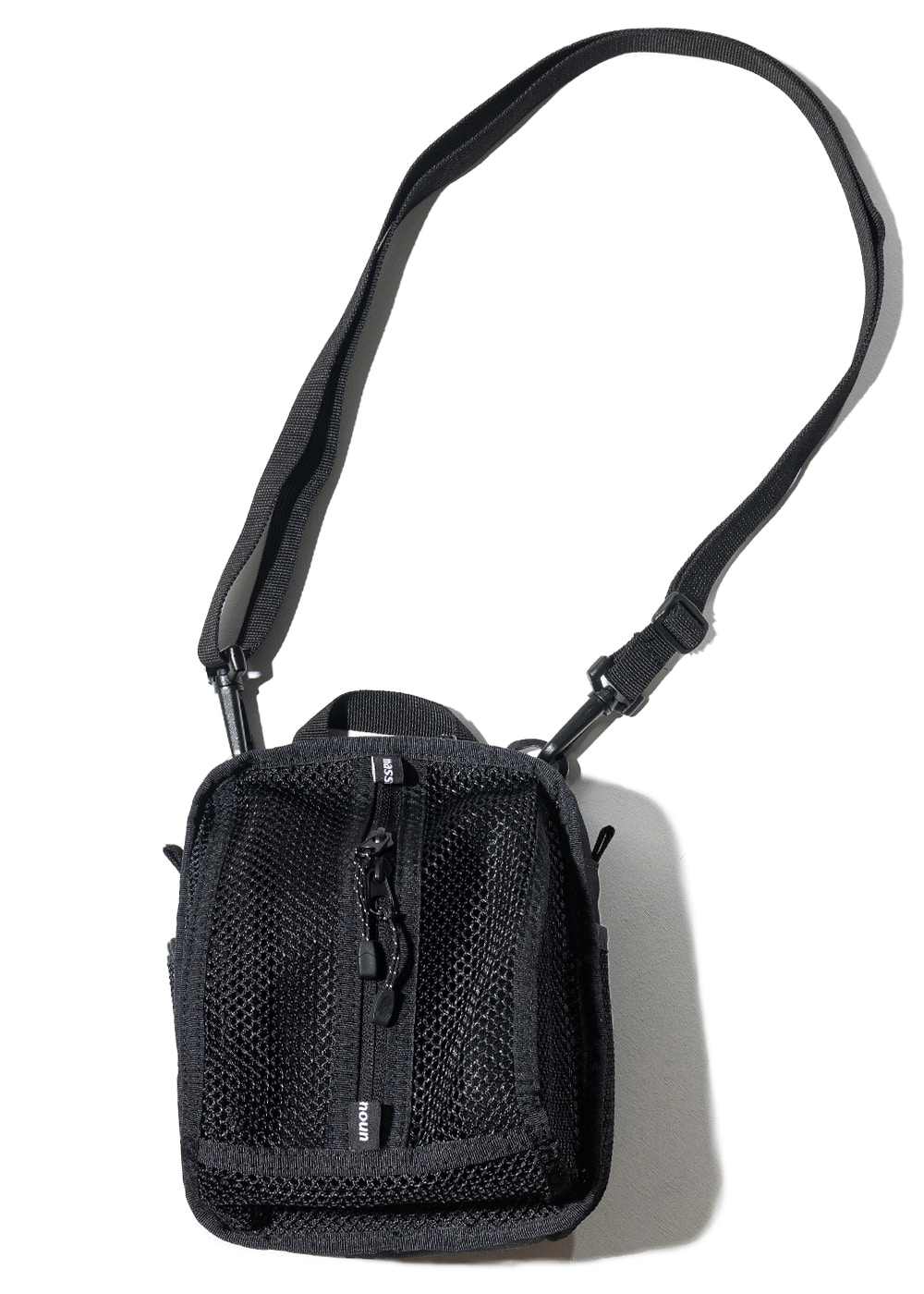 MESH SHOULDER BAG MUZAB002-BK