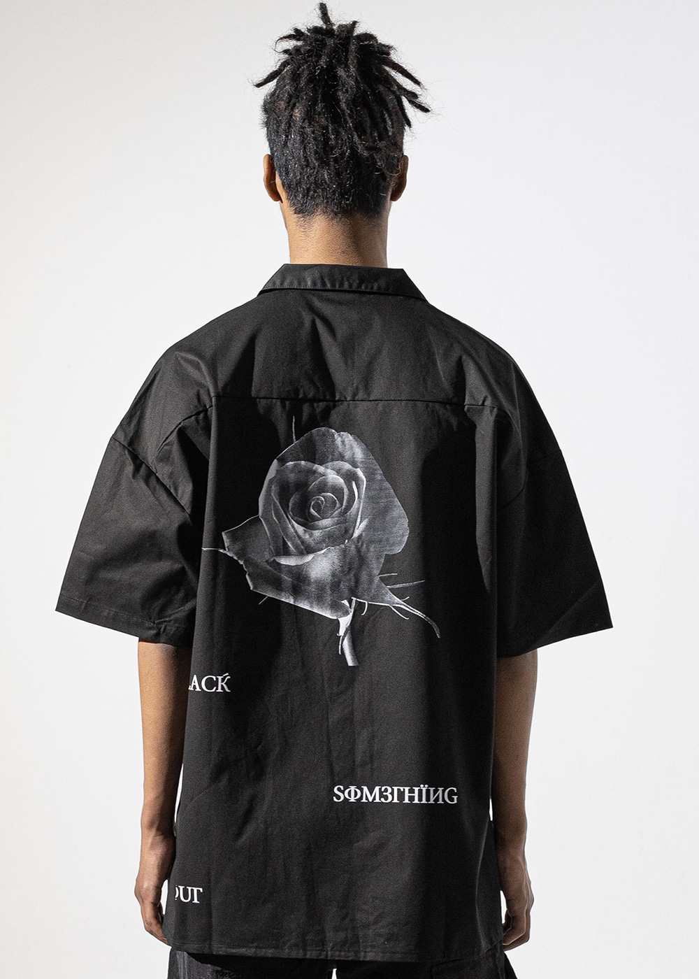 BLACK ROSE OVERSIZED SHIRT MUVST002-BK