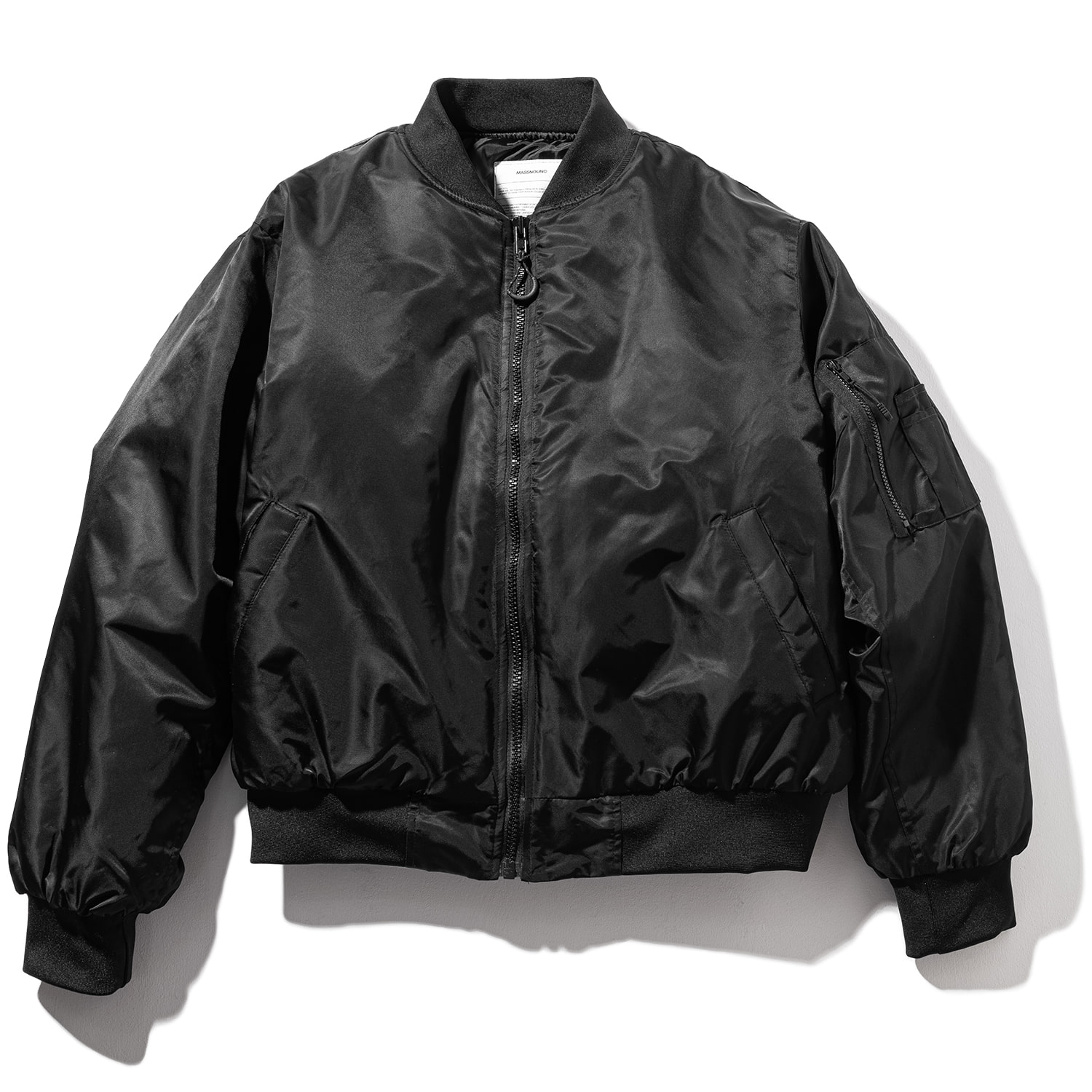 8OZ OVERSIZED MA-1 JACKET MFZPD003-BK