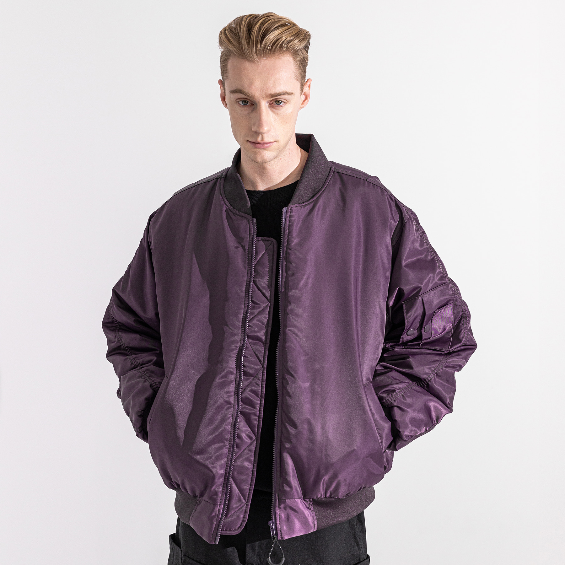 6OZ SHIRRING OVERSIZED MA-1 JACKET MWZPD002-PP