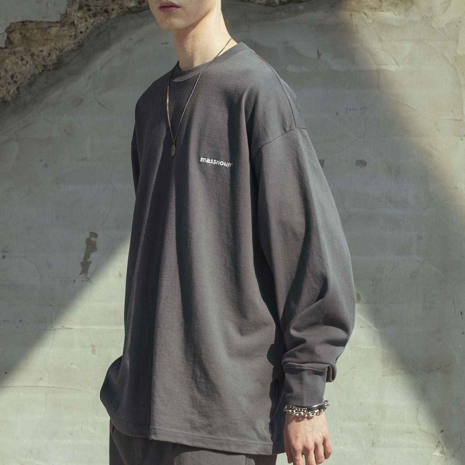 (10%)OVERSIZED STITCH LONG SLEEVE MSOLS001-DG