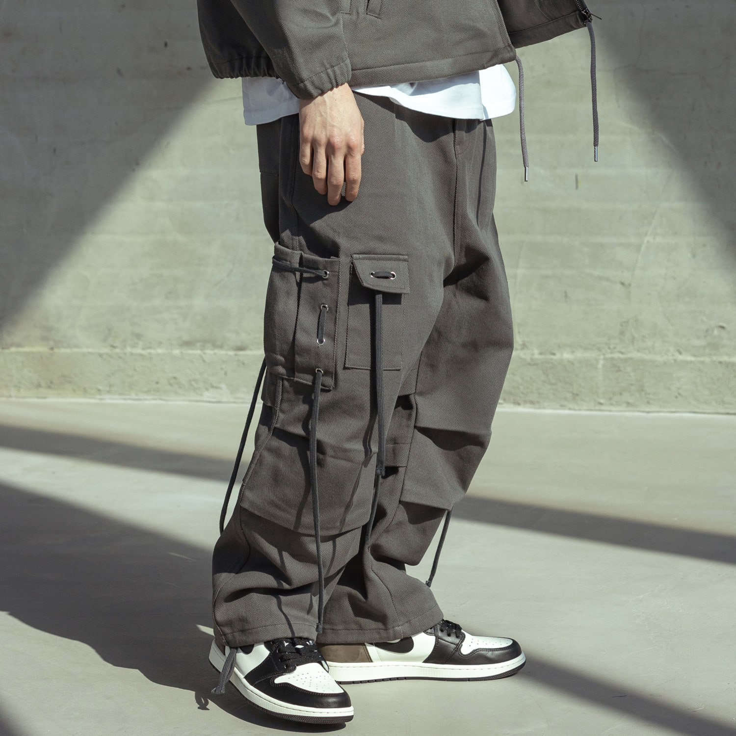 CABLE CARGO HARD COTTON PANTS MSOCP001-GY