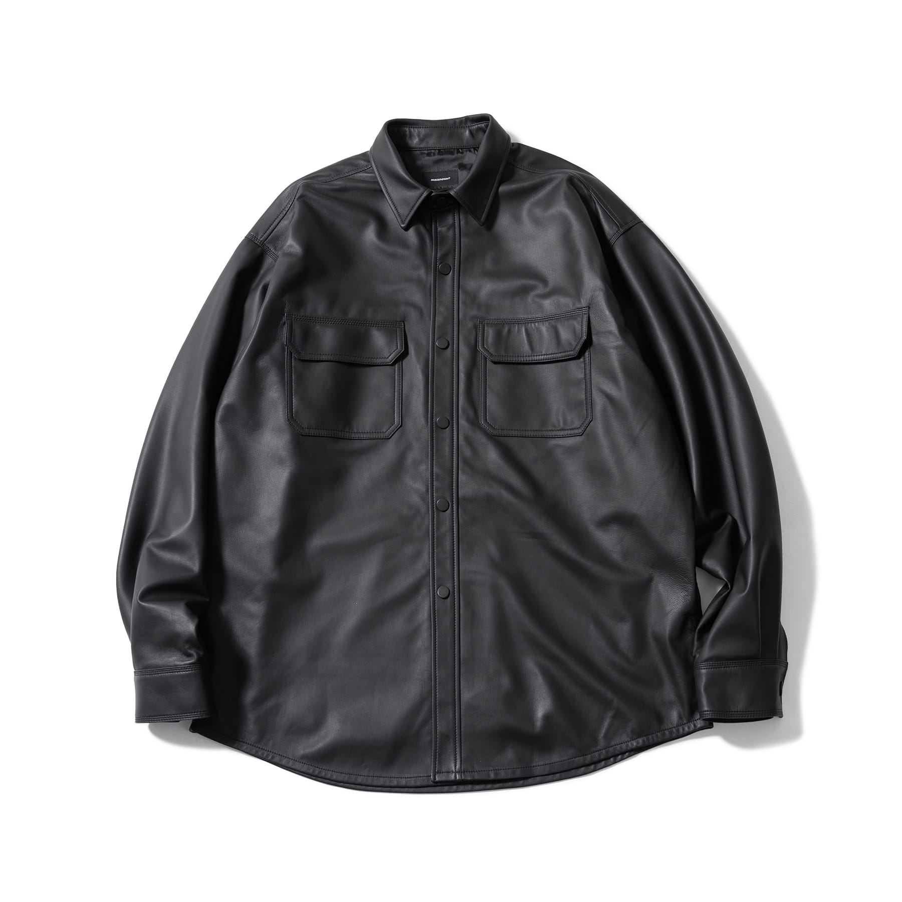 (5%)LAMBSKIN SOFT TOUCH SHIRTS JACKET MSOLJ005-BK