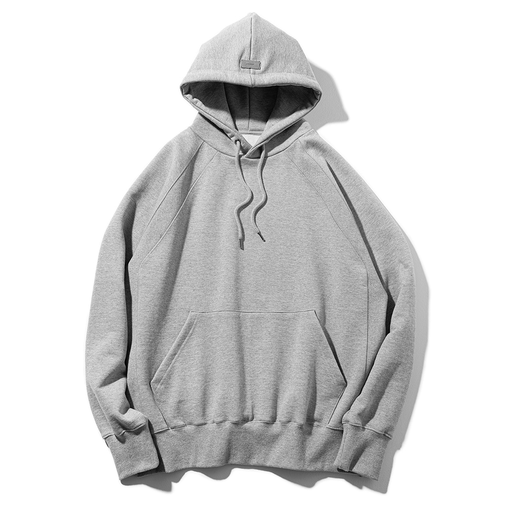 (30%)DOUBLE REGLAN SOLID HOODY MSOHD001-GY