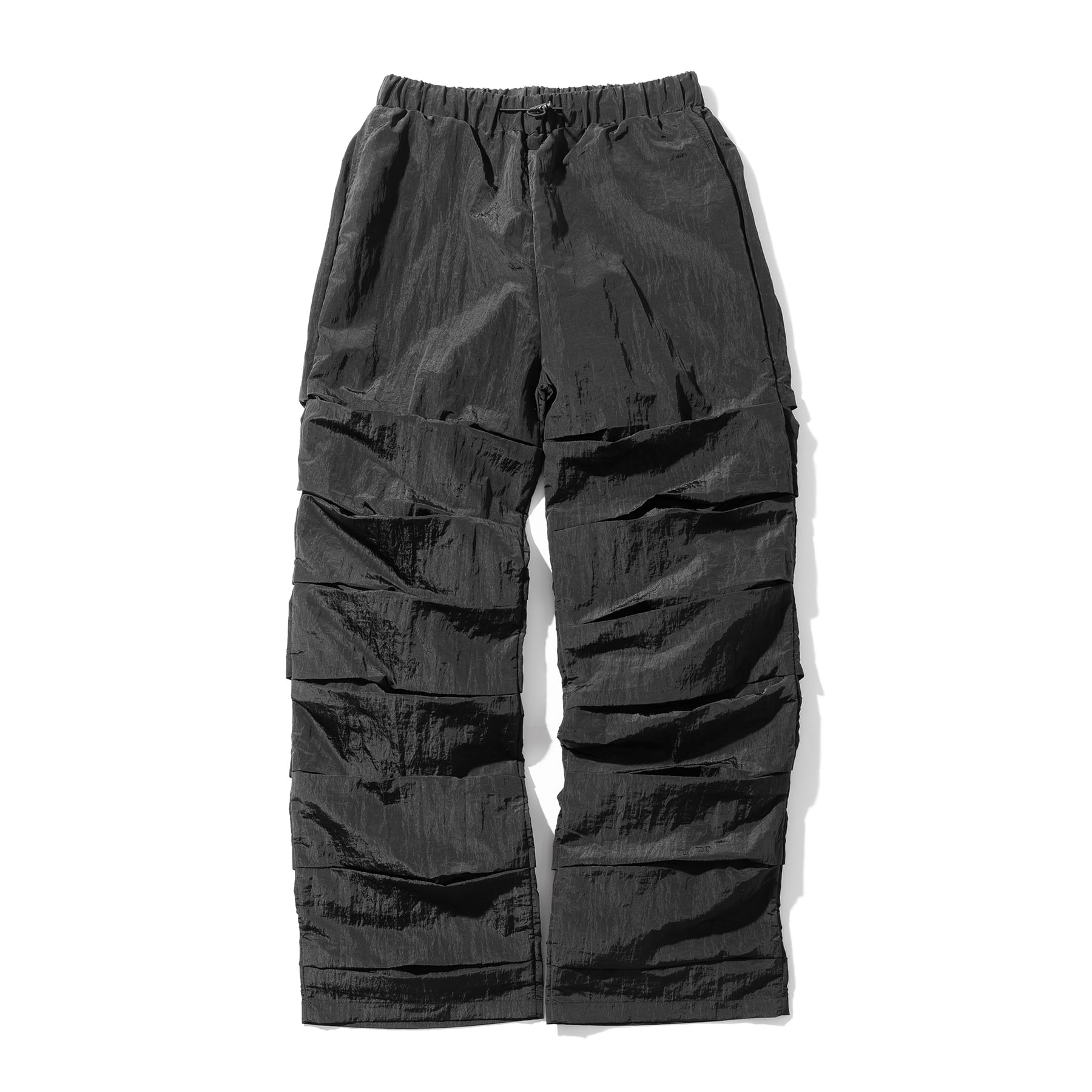 (10%)CRUMBLE NYLON PANTS MSOTP005-BK