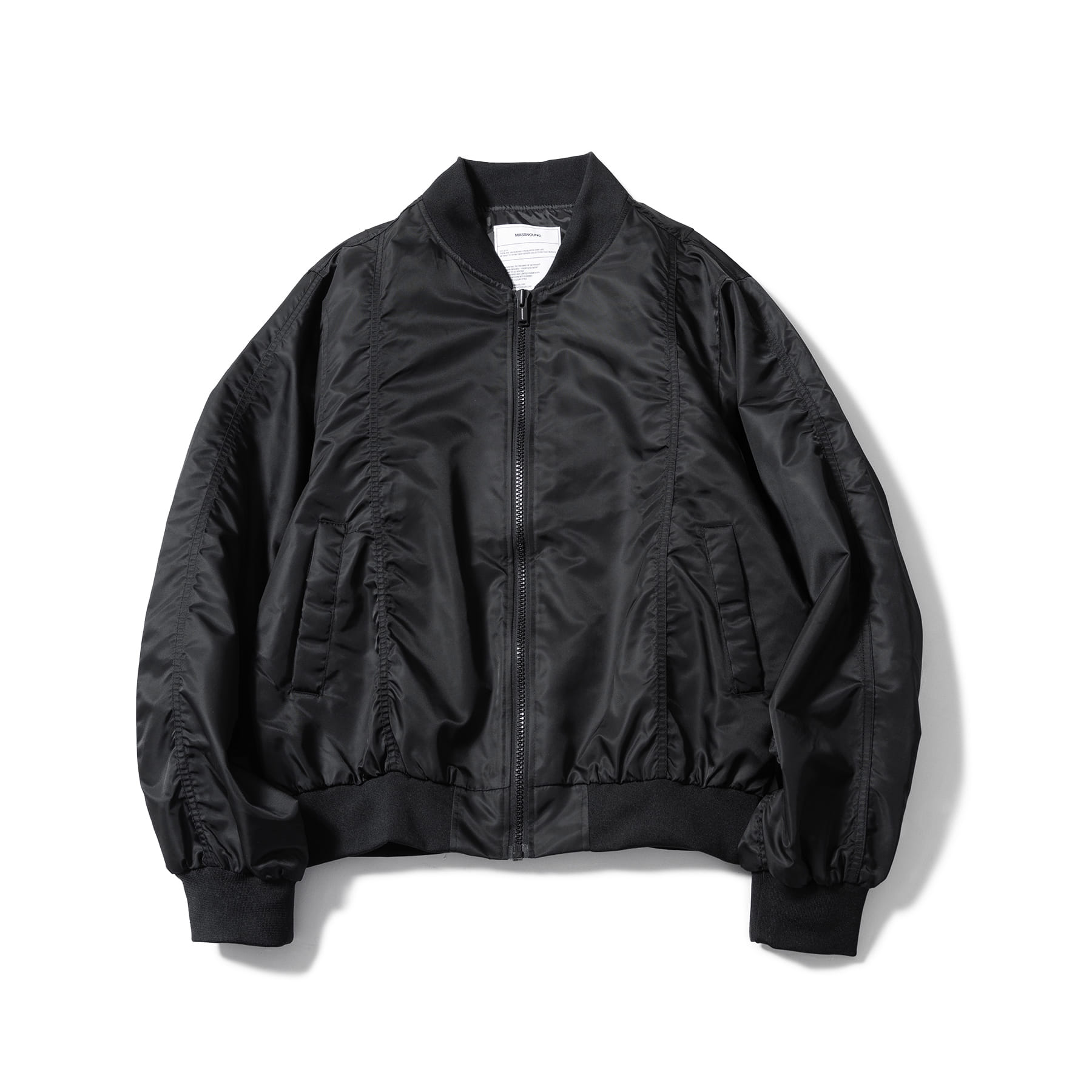 (50%)3M SCOTCH BACK ZIPPER MA-1 OVERSIZED JACKET MSOPD001-BK
