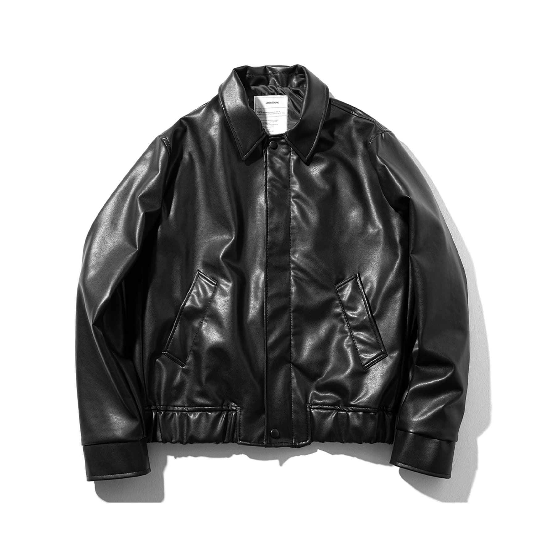 (30%)ARTIFICIAL LEATHER JACKET MSOLJ001-BK