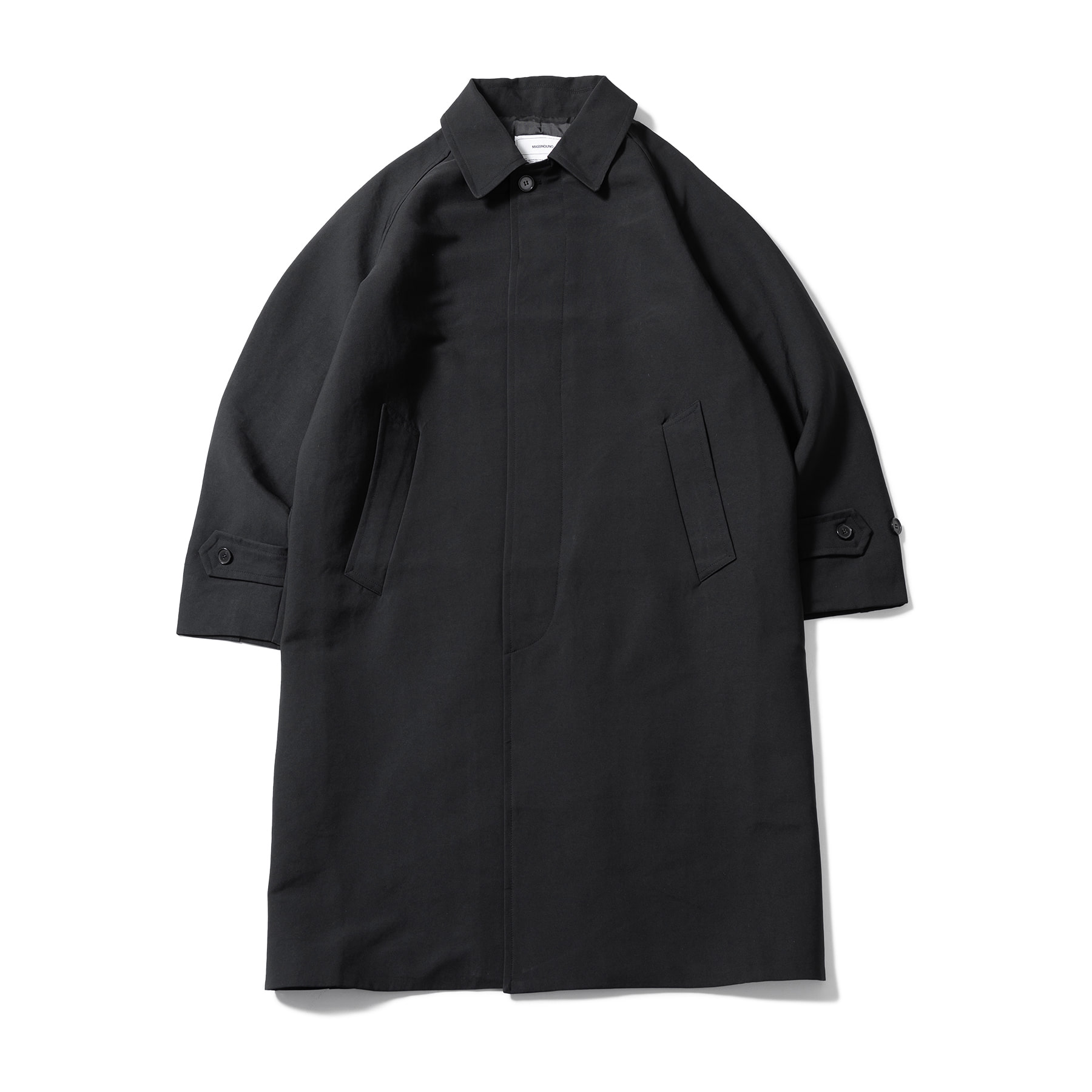 (10%)SOLID OVERSIZED MAC COAT MSOCT001-BK