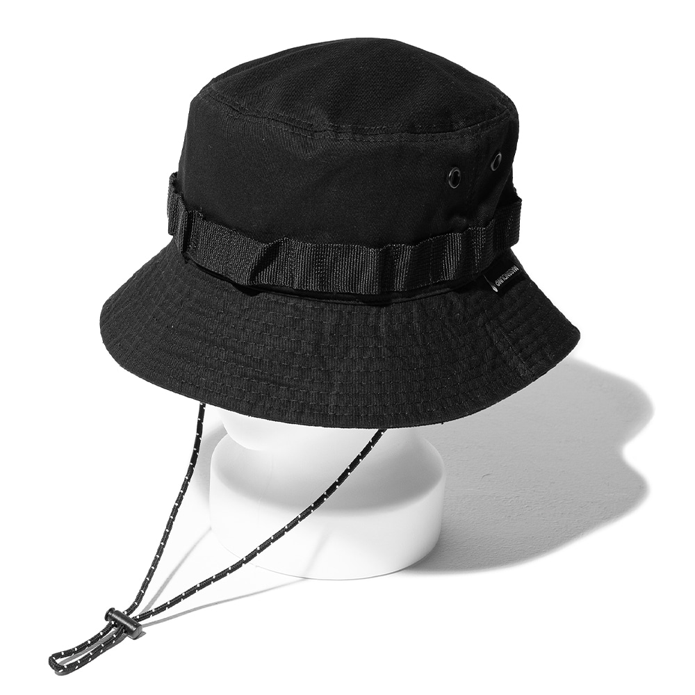 (10%)CARTRIDGE BUCKET HAT MSOAC001-BK