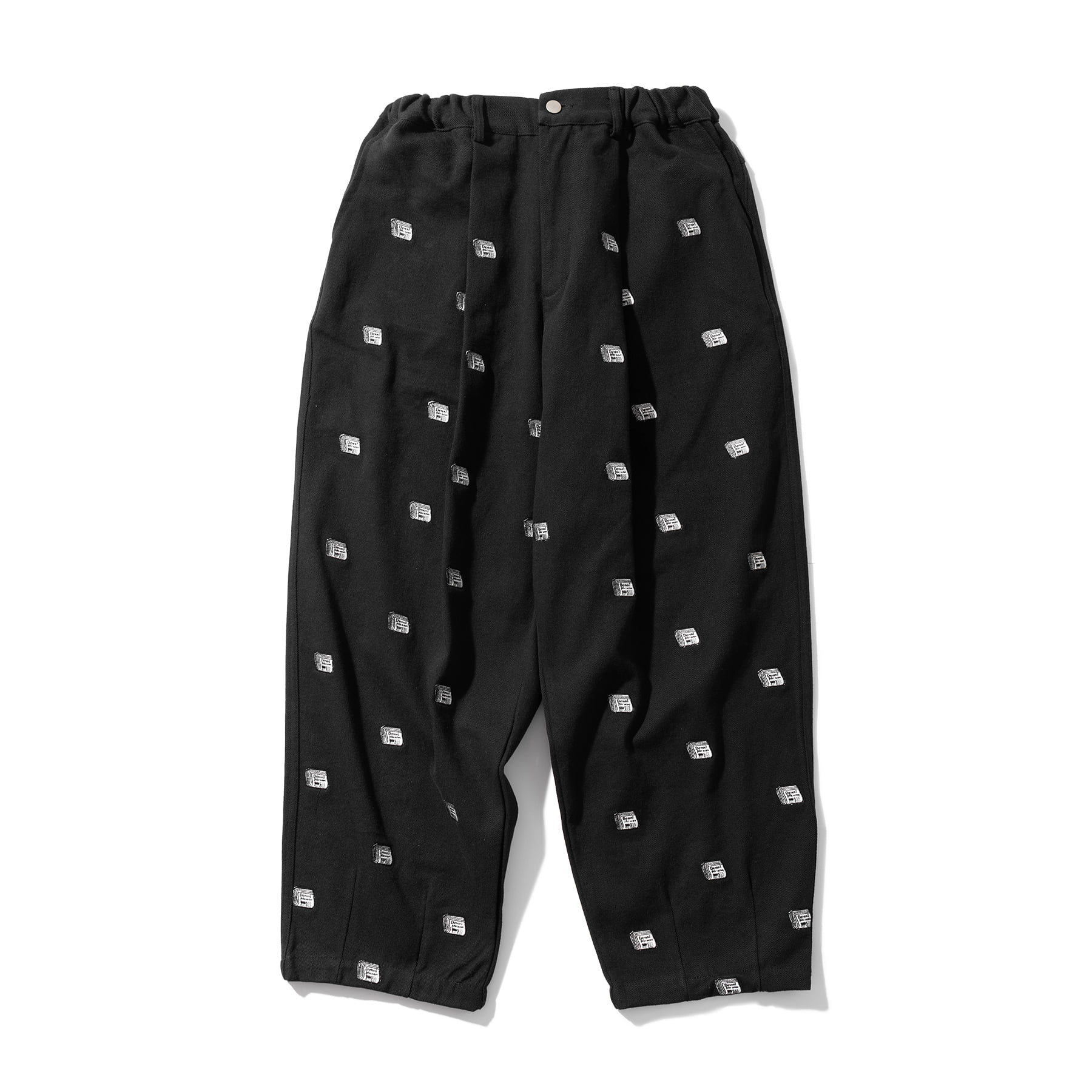 (10%)TABLOID PATTERN PANTS MSOCP003-BK