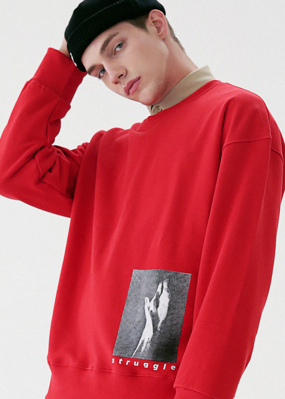 HAND IN SAND CREWNECK MFVCR003-RD