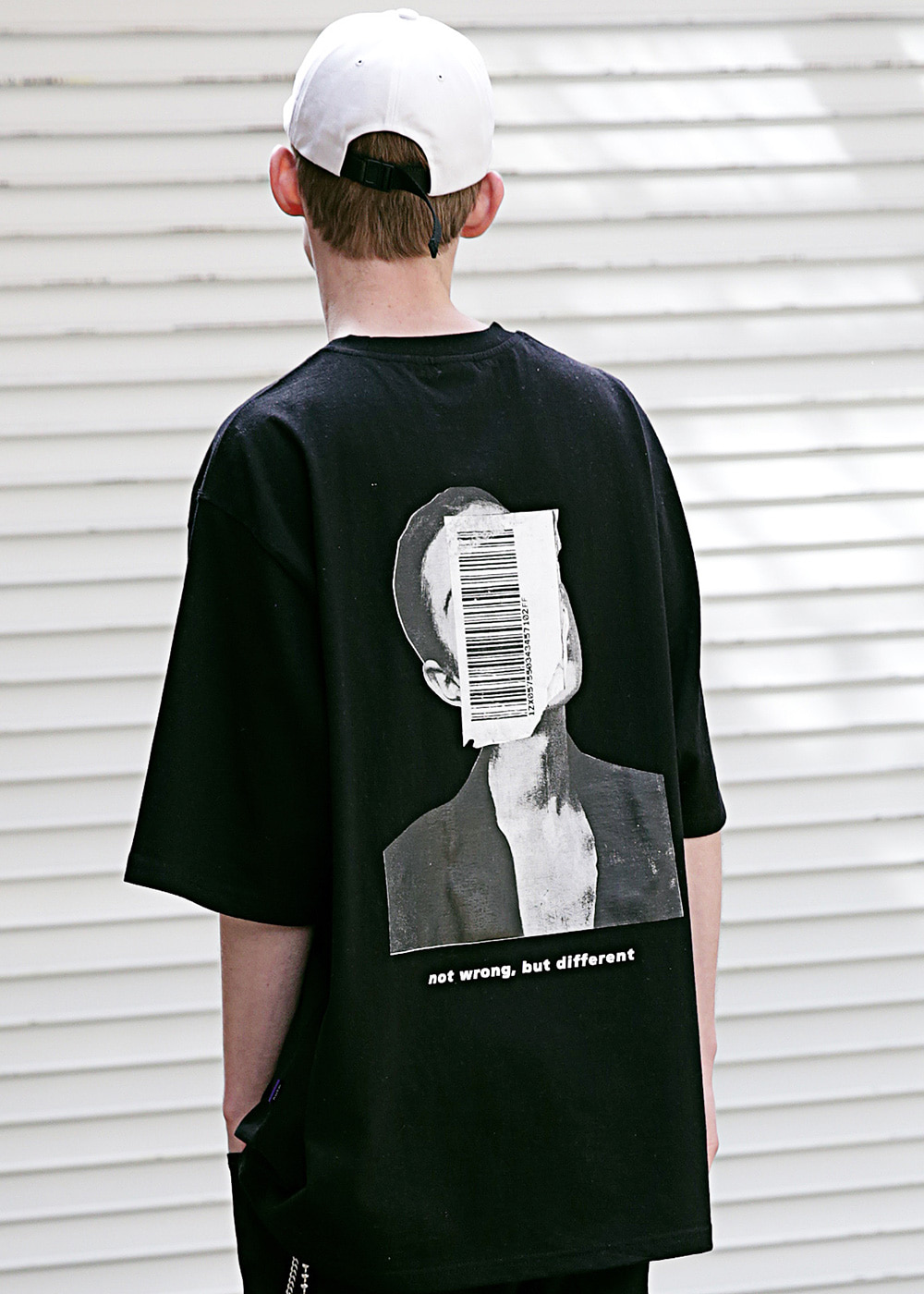 APPEARANCE OVERSIZED T-SHIRTS MSETS003-BK