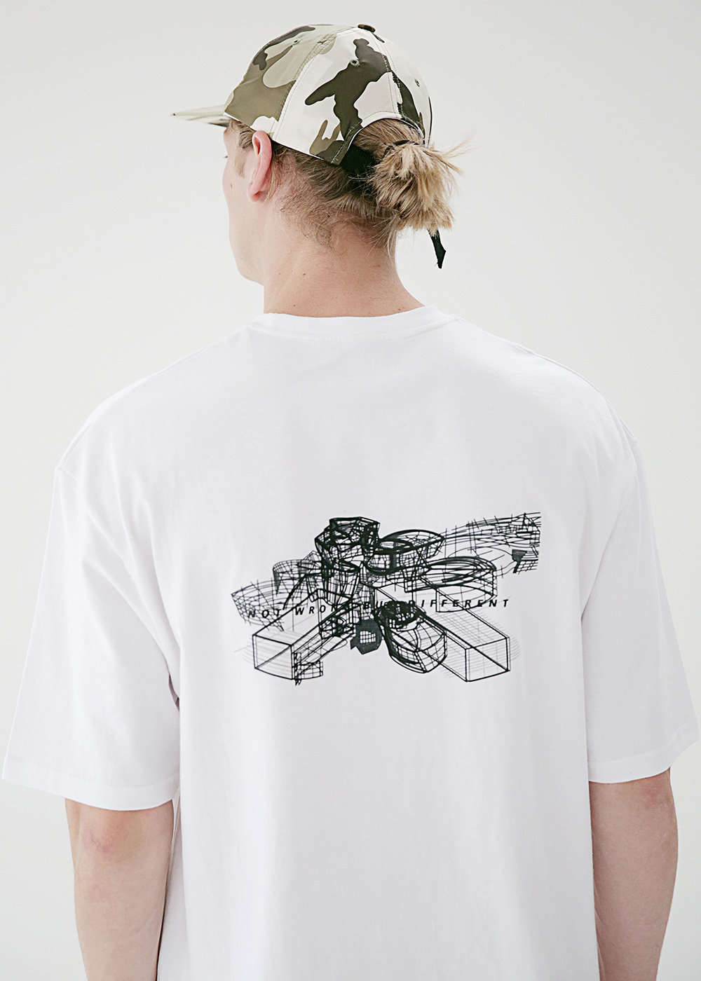 STRUCTURE OVERSIZED T-SHIRTS MSETS010-WT