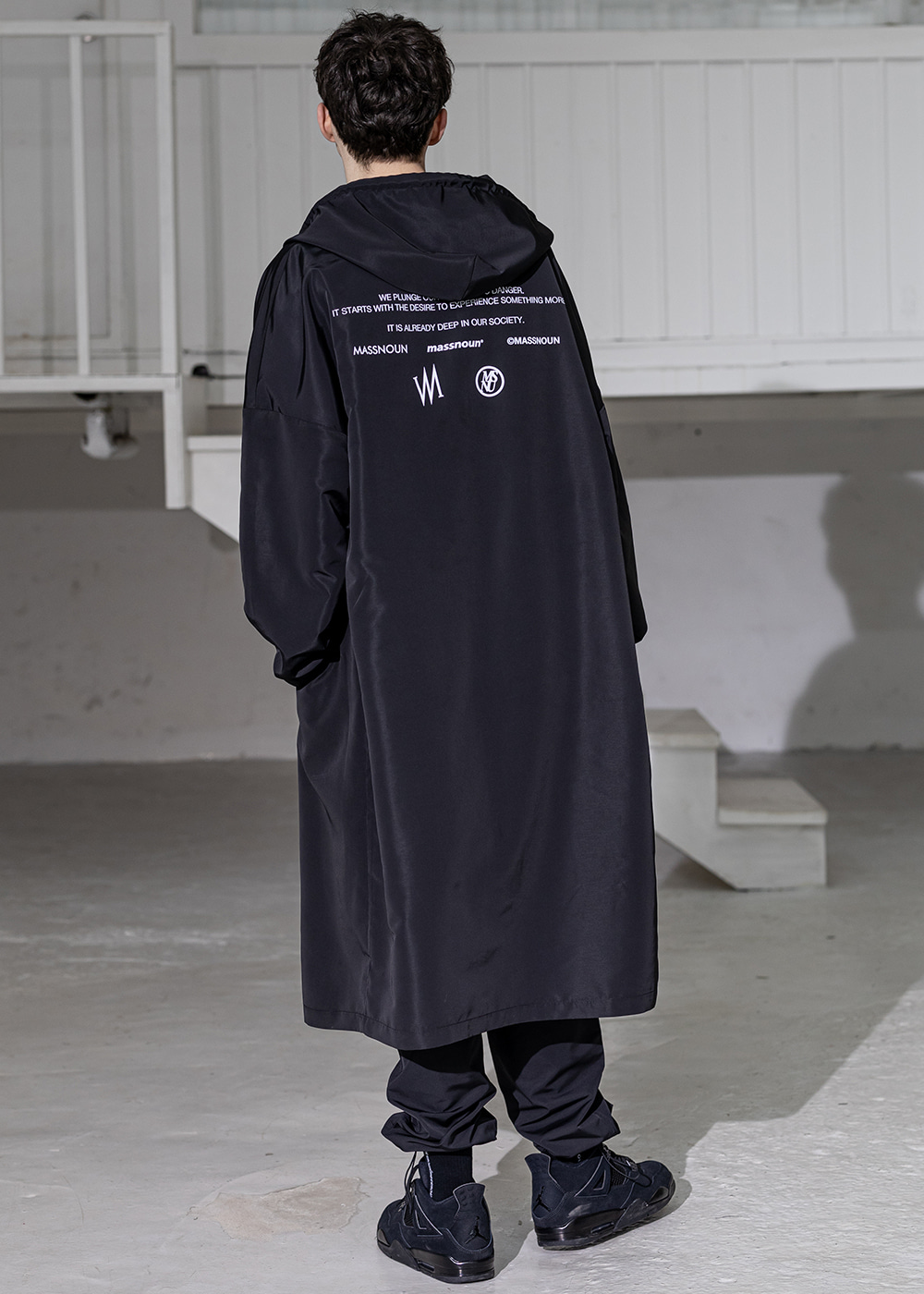CAMPAIGN LONG RAIN COAT MSZCT002-BK