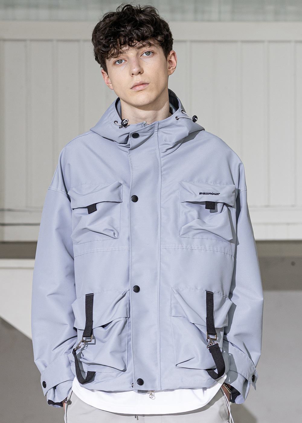 SL LOGO TECH LOOP JACKET MSZJK002-GY