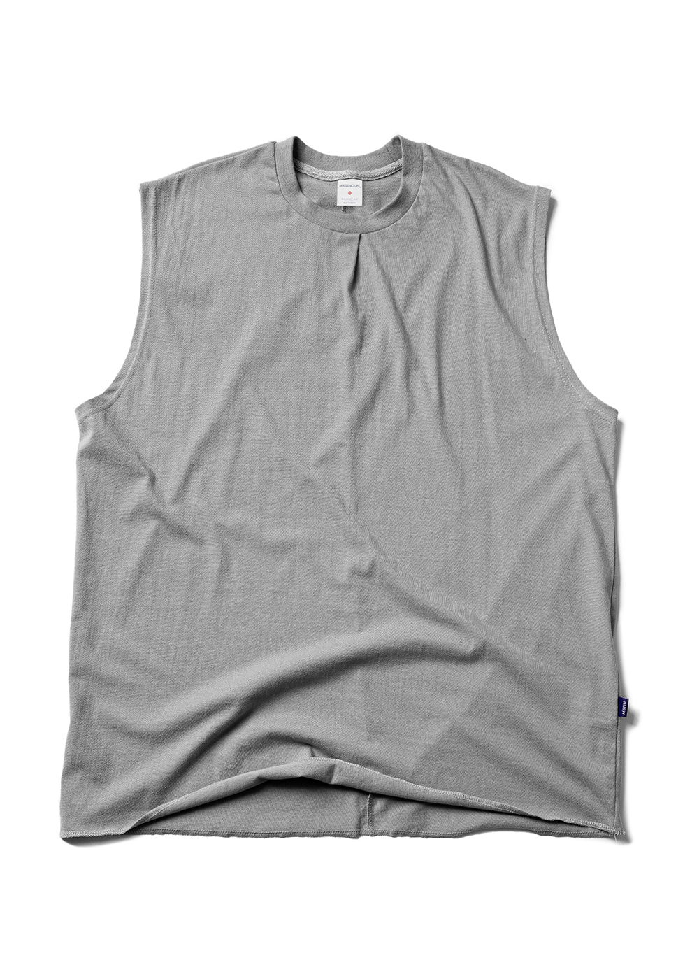 RESTRUCTURE OVERSIZED SLEEVELESS MUZSV002-DG