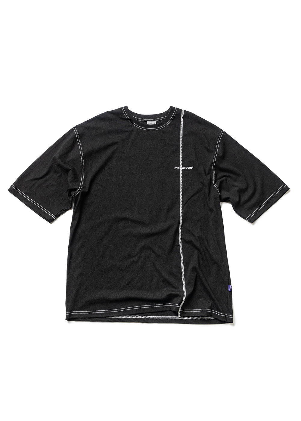 RESTRUCTURE STICH OVERSIZED T-SHIRTS MUZTS003-BK