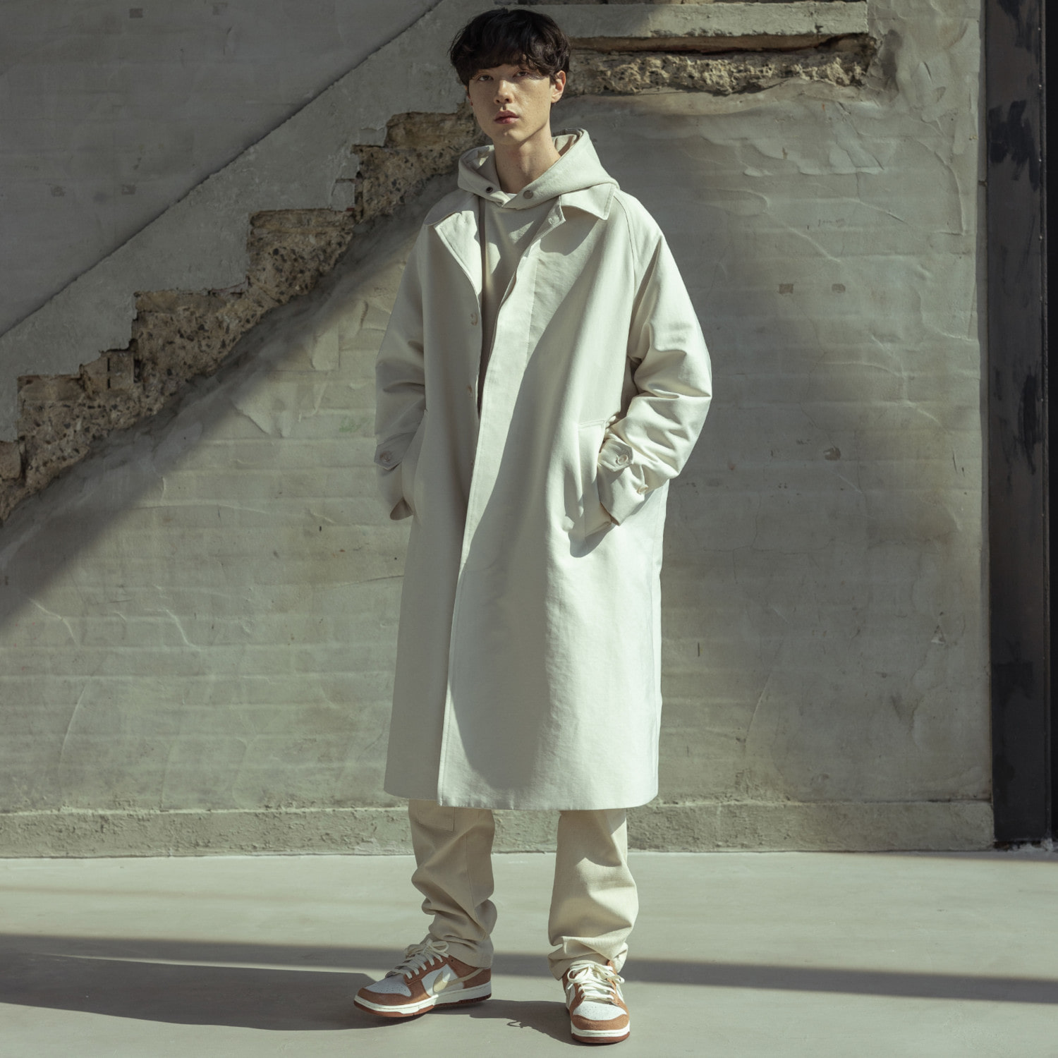 (10%)SOLID OVERSIZED MAC COAT MSOCT001-IV
