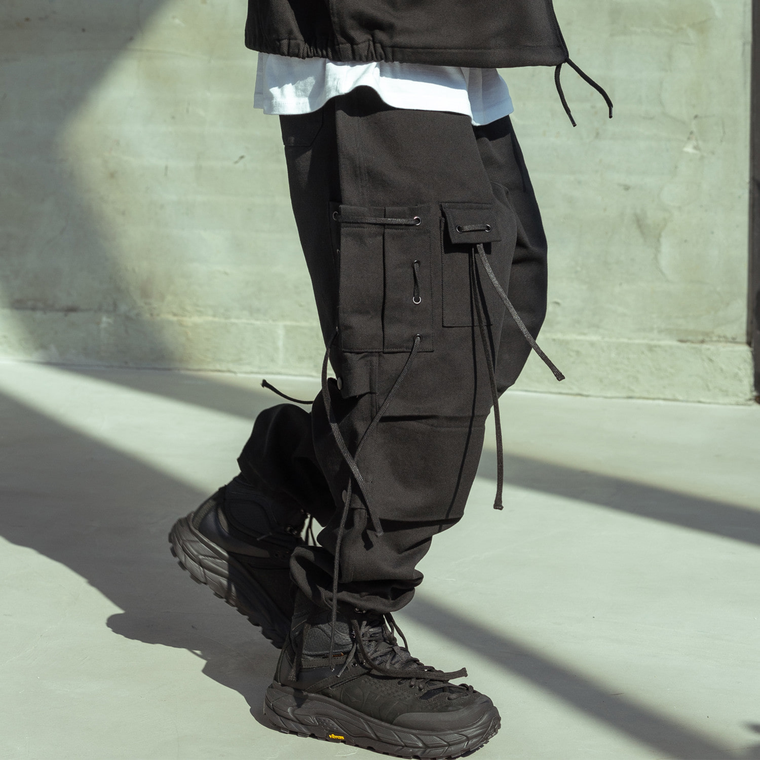 CABLE CARGO HARD COTTON PANTS MSOCP001-BK