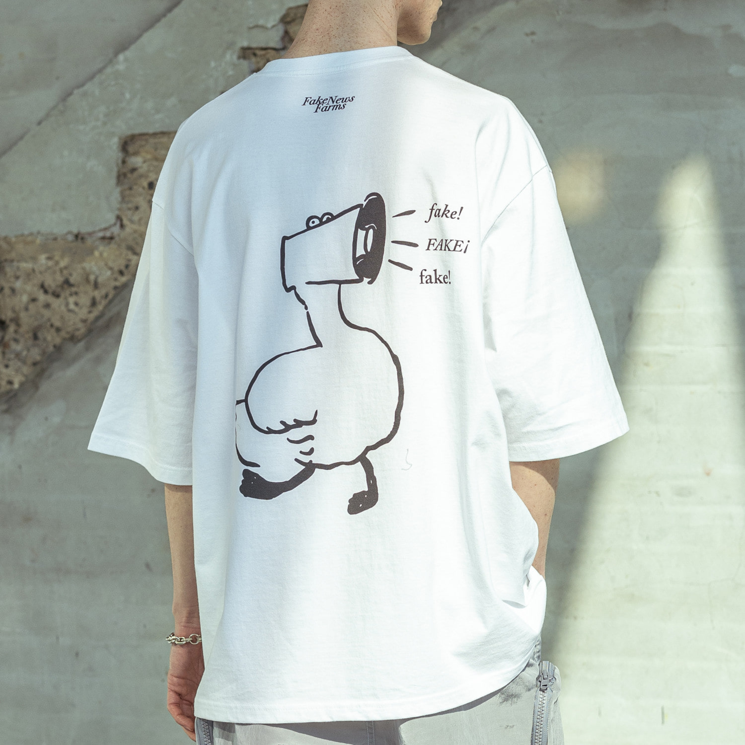 FAKE DUCK OVERSIZED T-SHIRTS MSOTS002-WT
