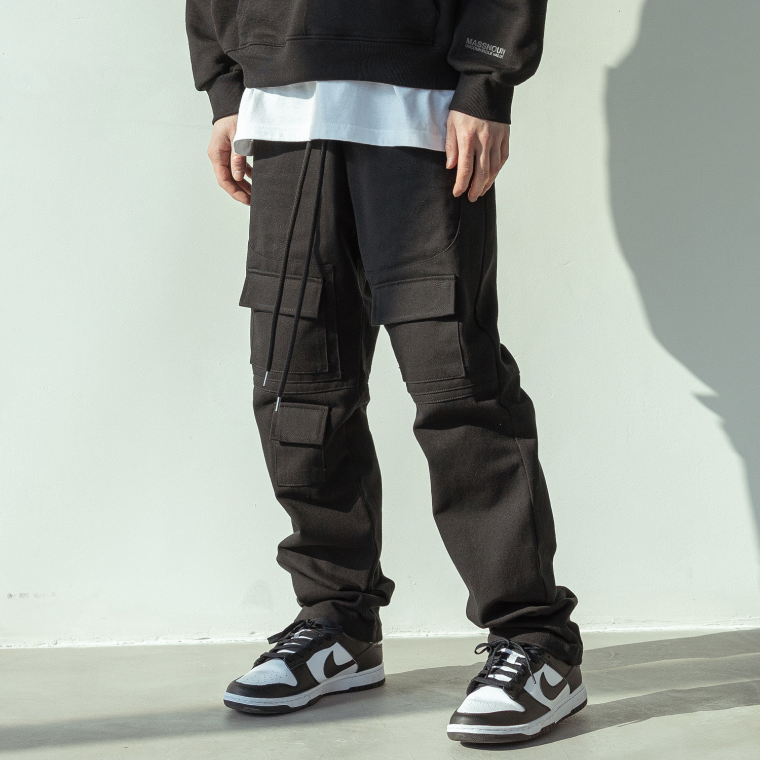 (10%)MULTI CARGO COTTON PANTS MSOCP002-BK